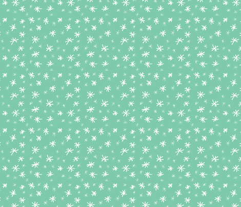 Stars in Mint // Gift wrap or Fun Christmas fabric // Doodle style repeating pattern by Zoe Charlotte fabric by zoecharlotte on Spoonflower - custom fabric