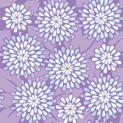 Teardrop Flowers Teardrop Flowers In Purple Repeating Pattern For Wallpaper Or .