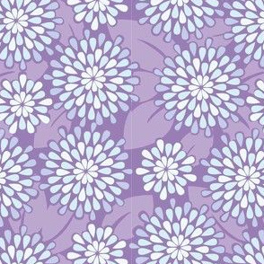 Teardrop Flowers in Purple// Repeating pattern for Wallpaper or Fabric // Teen Girl print by Zoe Charlotte