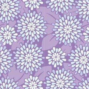 Teardrop Flowers in Purple// Repeating pattern for Wallpaper or Fabric // Teen Girl print by Zoe Charlotte
