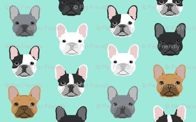 mini french bulldogs print cute frenchies french bulldog design cute dogs best frenchies fabric