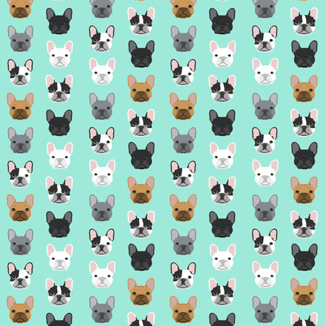 mini french bulldogs print cute frenchies french bulldog design cute dogs best frenchies fabric fabric by petfriendly on Spoonflower - custom fabric
