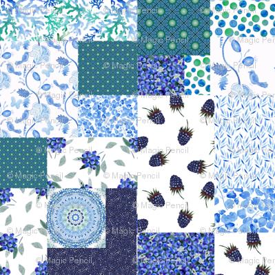Blue berry patchwork