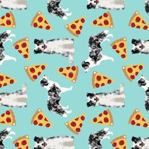 blue merle border collie cute dog design best pizza dog fabric cute border collies fabric