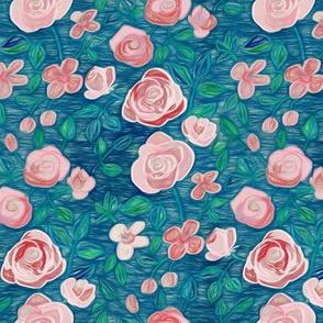Sketchy Rose Garden