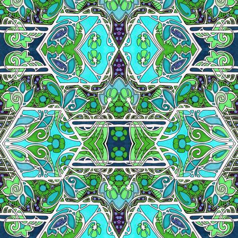 Secret Star Garden fabric by edsel2084 on Spoonflower - custom fabric