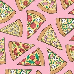 Pizza Fast Junk Food on Pink