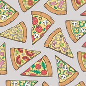 Pizza Fast Junk Food on Grey