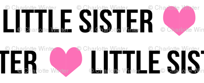 little sister kids words text little sister baby words font text fabric