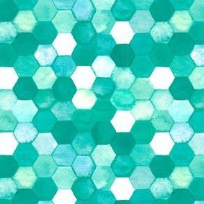 Aqua Honeycomb