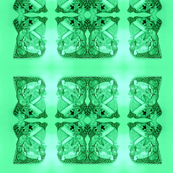 Father Christmas Squares Off,  Green on Green