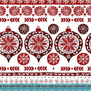 folk christmas stripes