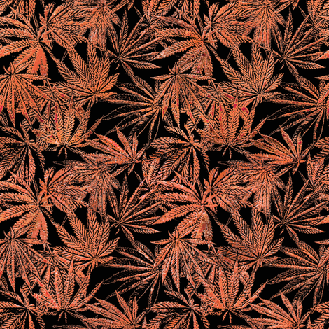 Copper Fan Leaves fabric by camomoto on Spoonflower - custom fabric
