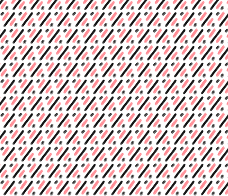 Pink and black brushes fabric by howjoyful on Spoonflower - custom fabric