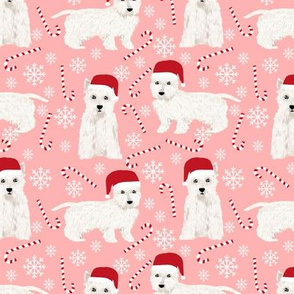 westie christmas fabric cute peppermint stick fabrics west highland terrier fabrics cute westie  pink christmas