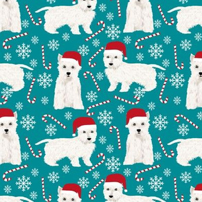 westie christmas fabric cute west highland terrier fabric cute christmas dogs fabric