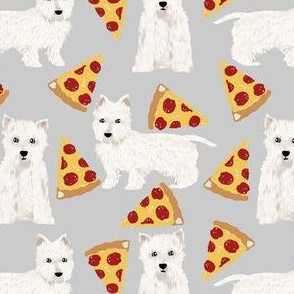 westie pizza fabric cute west highland terrier dog design best westie dogs fabric cute westies