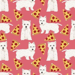 westie pizza fabric cute westie dog fabrics cute west highland terriers fabric cute pizza design