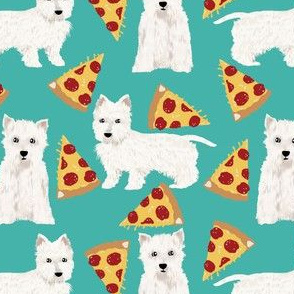 westie dogs fabric cute pizzas fabric cute west highland terriers cute west dogs dog fabric cute westies fabric