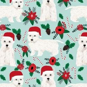 westie poinsettia fabric cutes west highland terriers fabric cute poinsettias fabric cute westies