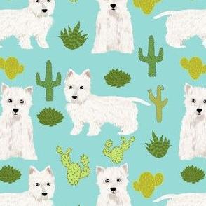 westie cactus fabric cute west highland terriers fabric cute westies dogs dog fabric