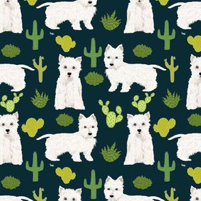 westie cactus fabric cute west highland terriers cactus fabrics cute westie dog fabric cute westies