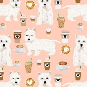 westie coffee fabric west highland terriers fabric cute westies fabrics cute west highland terriers