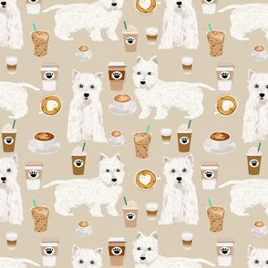 westies coffee fabric cute west highland terrier dog fabrics cute westies design cute coffees fabric