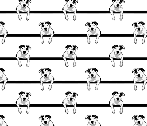 Pit Bull T-Bone Graphic Smaller fabric by hisruinphotography on Spoonflower - custom fabric