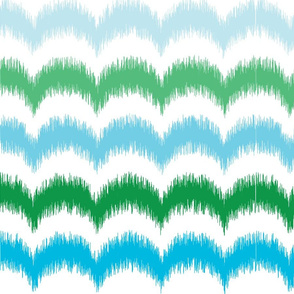 Waves Ikat -Turquoise and Green2