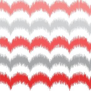 Waves_Ikat_Coral_and_Gray