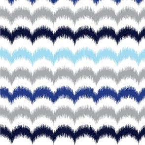 Waves Ikat - Blue