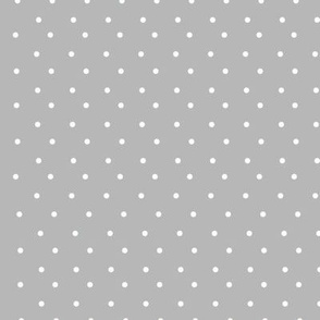grey and white polka