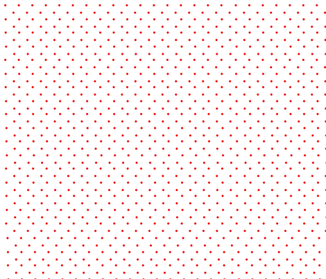 red polka on white fabric by giaowilliams on Spoonflower - custom fabric