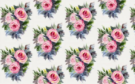 Rose_Bed fabric by wildflowerfabrics on Spoonflower - custom fabric