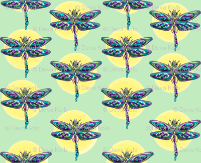 Celtic_Dragonflies_Green