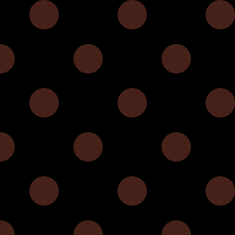 One Inch Brown Polka Dots on Black fabric by mtothefifthpower on Spoonflower - custom fabric