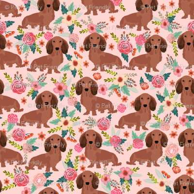 dachshunds floral fabric dogs doxie fabrics cute doxie weiner dogs fabric cute dogs florals design