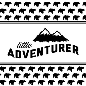 Fat Quarter Layout - Little Adventurer (bear)