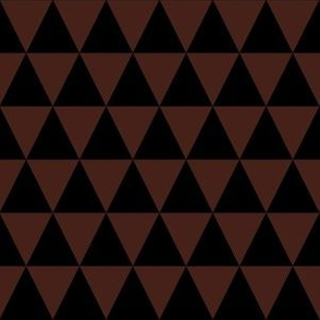 One Inch Black and Brown Triangles