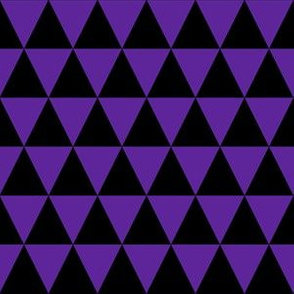 One Inch Black and Purple Triangles