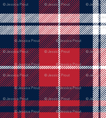 fall plaid    navy,red, and white