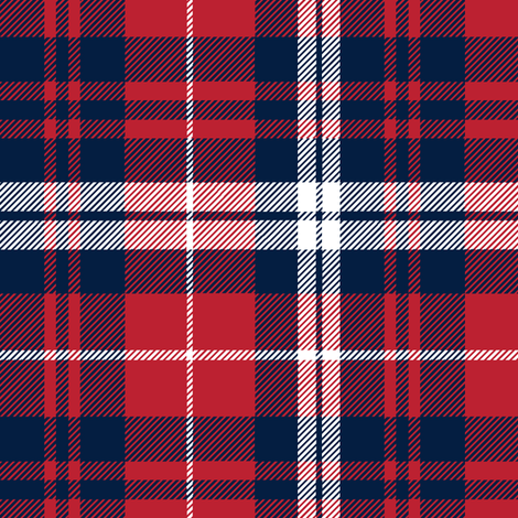 fall plaid    navy,red, and white fabric by littlearrowdesign on Spoonflower - custom fabric