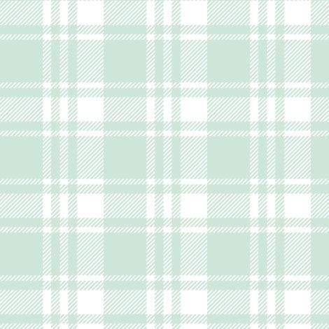 mint plaid  fabric by littlearrowdesign on Spoonflower - custom fabric