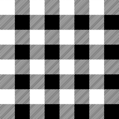 "1"" black and white plaid  fabric by littlearrowdesign on Spoonflower - custom fabric"