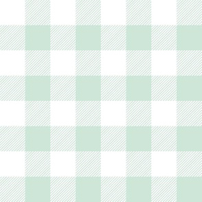 "1"" mint plaid"