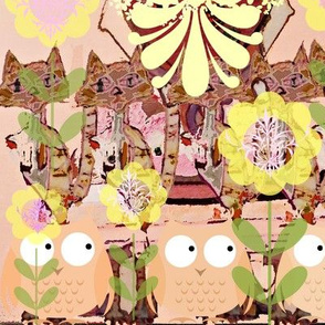 Cat Lady and owls