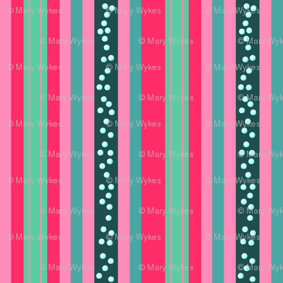 FNB3 - Mini Fizz-n-Bubble  Stripes in Pink and Green - Vertical