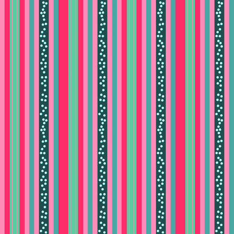 FNB3 - Mini Fizz-n-Bubble  Stripes in Pink and Green - Vertical fabric by maryyx on Spoonflower - custom fabric