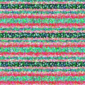 FNB3 - Mini Stripes of Digital Glitter in Red - Pink - Green - Crosswise